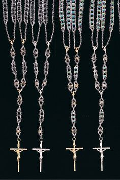First Communion supplies, crystal rosaries, mini rosaries and Crystal One Decade rosary bracelets.
