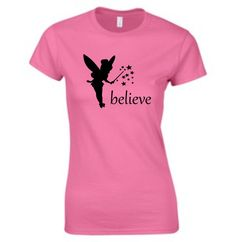 Believe in the magic! A quality short sleeve T shirt with a beautiful fairy/tinkerbell design. We can also make this in mens or childrens sizes and a variety of colours. Size Guides Men's T shirts S M L XL Women's T Shirts S M XL Tinkerbell Disney, Beautiful Fairies, Disney Magic, Primary Colors, Cool Designs, Fairy, Etsy Shop, Pretty, Clothing