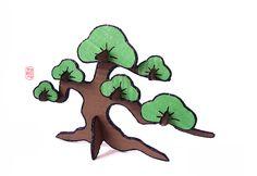 Cardboard Bonsai Sketch  by:7E55E  #bonsai  #paper