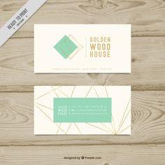 Cartão fantástico com linhas douradas geométricas Vetor grátis