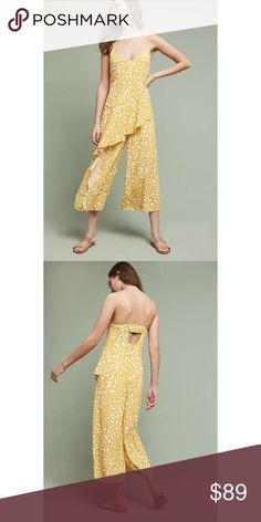 f6fb0e467df Shop Women s Anthropologie Yellow White size 4 Jumpsuits   Rompers at a  discounted price at Poshmark.