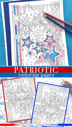 Patriotic coloring page designed by Jen Goode Print out and color free patriotic coloring pages. There's a variety of designs featured plus 3 original sheets designed by Jen Goode. Star Coloring Pages, Printable Adult Coloring Pages, Coloring Pages For Kids, Coloring Books, Kids Coloring, Coloring Sheets, Colouring, Patriotic Crafts, Patriotic Party