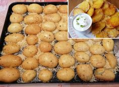 Crunchy snack: these potato halves from the oven are an internet hit! Moussaka Recipe Potato, Passionfruit Recipes, Wonderful Recipe, Food Platters, Mediterranean Recipes, Party Snacks, Four, Finger Foods, Good Food