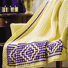 Ravelry: Mosaic Border Afghan pattern by Margret Willson. Crochet! Magazine: Fall 2010: Celebrate the Season.
