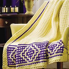 Ravelry: Mosaic Border Afghan pattern by Margret Willson