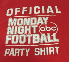 Vintage Official Monday Night Football Party Large Short Sleeve Tee T-Shirt