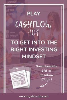 """Play Cashflow to Get into the Right Investing Mindset    Getting into the right investing mindset is the first step towards successful investing.     """"I attended my very first Cashflow 101 game and it helped me to learn more about investing""""    Click through to read the post and download the list of Cashflow Clubs near you.    - Aysha Van De Paer www.ayshavdp.com    #womenempowerment#personalfinance#moneymindset#moneytips#investing#financialeducation#financialliteracy#empoweringwomen Investing In Stocks, Investing Money, Real Estate Investing, Investment Club, Investment Portfolio, Wealth Management, Money Management, Investing For Retirement, Financial Literacy"""