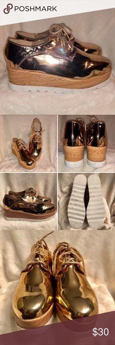 7e27fc91d80 J.Adams Rose Gold Flatform Shoes Shine bright in these Rose Gold Flatform  Shoes by