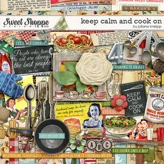 Sweet Shoppe Designs::NEW Releases::New Releases - 9/28::Keep calm and cook on mega kit by Juliana Kneipp