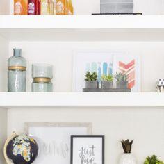 Floating Shelves   Shelf Styling   By Lexi Westergard Design