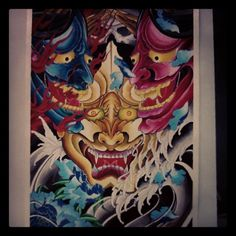 Complete #hannya #watercolour #paint #portugal #japanesestyletattoo #dmira #madneedle