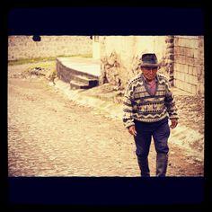 Ecuador - elderly man on the road