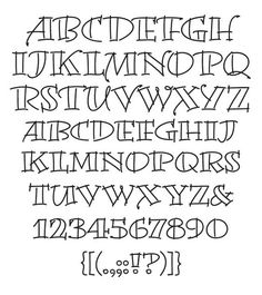 creative hand lettering alphabets | Artistic Writing Fonts. Would look pretty on Burlap banner or flag etc.: