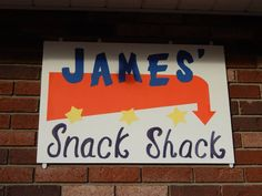 Drive in movie party-Homemade snack shack/concession sign..