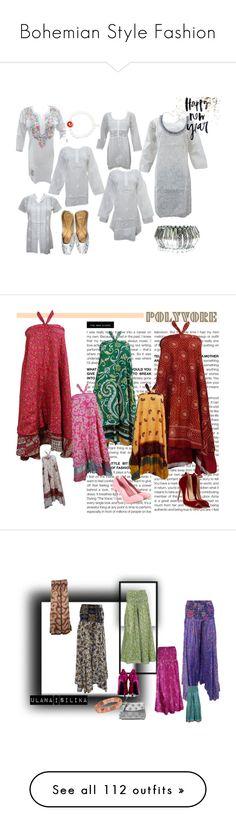"""""""Bohemian Style Fashion"""" by era-chandok ❤ liked on Polyvore featuring Bohemian, blouse, tunic, kurti, whitekurti, BCBGMAXAZRIA, skirt, maxiskirt, boho and longSkirt"""