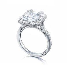 TACORI Halo Platinum Diamond Engagement Ring HT2652EC105X85 #ArthursJewelers