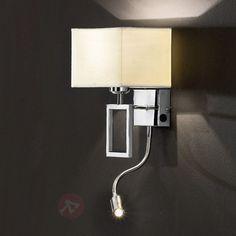 Lampa ścienna Renee z lampką LED do czytania sicher & bequem online bestellen bei Lampenwelt.de.