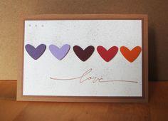 Eine Karte für alle Verliebten, Verlobten oder Verheirateten.   Zu verwenden als Hochzeitskarte oder einfach mal so der oder dem Liebsten eine Freude zu machen.