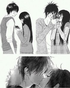 Kimi Ni Todoke_No te llamare. Kimi Ni Todoke, Anime Kiss, Anime Manga, Manga Mania, Awkward Girl, Romantic Manga, Romance, Couple Illustration, A Silent Voice