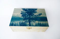 DECORATED wooden BOX with cyanotype by StunningInstants on Etsy