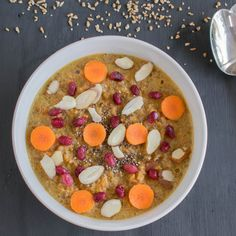 Carrot Bulgur Porride is a healthy vegan breakfast or after workput meal that keep you full longer | high in protein and fiber | kiipfit.com