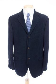 BRUNELLO CUCINELLI Mens Brushed Cotton Dinner Jacket 54 US 44 L Blue Soft Blazer #BrunelloCucinelli #ThreeButton