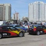 Media day for the 36th Annual Toyota Grand Prix of Long Beach Pro/Celebrity Race - The race-prepped Scion tC's.