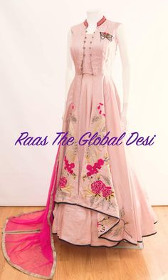 indian clothing ONLINE USA Silk brocade top with golden embroidery with matching bottom and dupatta Pakistani Dresses Casual, Indian Gowns Dresses, Indian Fashion Dresses, Indian Designer Outfits, Indian Outfits, Designer Dresses, Indian Clothes, Long Dresses, Puffy Dresses
