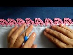 Bico em crochê - 81 - PARA CANHOTO(A) - YouTube Picot Crochet, Crochet Shell Stitch, Crochet Leaves, Freeform Crochet, Boho Crochet Patterns, Lace Patterns, Love Crochet, Crochet Designs, Crochet Flower Tutorial