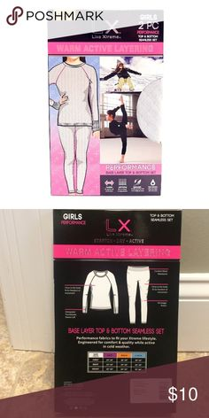 S Live Xtreme Girl/'s Warm Active Base Layer Top /& Bottom Seamless 2PC set M