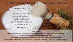 Young Living Essential Oils: Shaving Cream