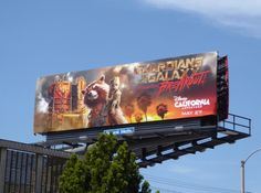 Guardians of the Galaxy Mission: Breakout Disney California Adventure billboard