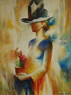 "Saatchi Art Artist Anatoliy Rozhansky; Painting, ""Kaktus."" #art"