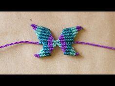 ▶ tutorial pulsera de mariposa en macrame butterfly macrame - YouTube