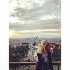 Top of the Eiffel Tower by cmarielamendola Eiffel_Tower #France