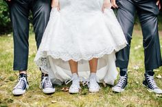 Bride with Chuck Taylors, weddings shoes