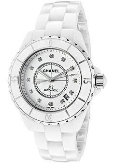 Chanel Women's J12 White Diamond Automatic White Dial White Ceramic, http://www.amazon.com/dp/B002GSCKSE/ref=cm_sw_r_pi_awdm_aJDRvb019W5FR