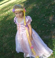 Rapunzel Princess Hair piece Wig Halloween Costume by Two Sugar Peas. $18.50, via Etsy.