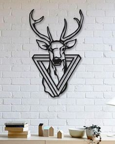 Metal Tree Wall Art, Metal Wall Decor, Diy Wall, Wall Art Designs, Wall Design, Geometric Deer, Laser Art, Metal Art Projects, Steel Art