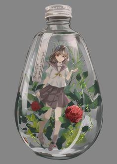 Image in Anime collection by Umi on We Heart It Anime Chibi, Art Anime, Fanarts Anime, Anime Artwork, Anime Art Girl, Manga Girl, Kawaii Anime, Manga Anime, Arte Yin Yang