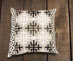 'SamNua' - leather applique cushion - Passa Paa   Passa Paa