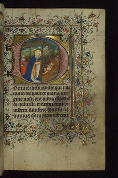 Illuminated Manuscript, Book of Hours, Nativity, Walters Manuscript W.168, fol. 129r