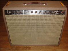Vintage 1961 Fender Vibrolux 1x12 Tube Amp Amplifier w/ Weber Speaker RCA tubes