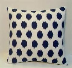 White with Navy Couch Pillows
