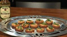 Savory Sweet Potato Bites ~This terrific appetizer is sure to please. So easy, really tasty and vegan of course!