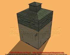 Fuerte de Cuba en mampostería y arpillera: maqueta de papel http://edificiosdepapel.blogspot.com.es/2015/01/maqueta-de-papel-1527-fuerte-3-trochas-cuba.html