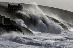 PORTHLEVEN, UNITED KINGDOM - FEBRUARY 08: Storm waves break on February 8, 2014 at Porthleven in Cornwall, England. Description from gettyimages.co.uk. I searched for this on bing.com/images