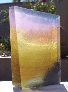 First Light; Kiln-cast and carved glass Patrick Blythe, Artist