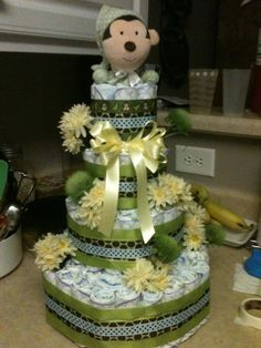 Baby Shower Diaper Gift Cake by AFrogsWay on Etsy, $129.00