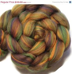 Christmas in July Phat Fiber January 15 Scotland- My Scottish Connetion - Bluefaced Leicester Black Bamboo Roving Top - Spinning, Wet Feltin - pinned by pin4etsy.com